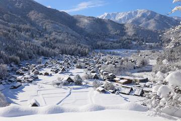 白川郷 合掌村 雪景色