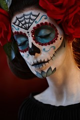Closeup portrait of woman at halloween
