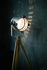 Retro light modifier in room interior