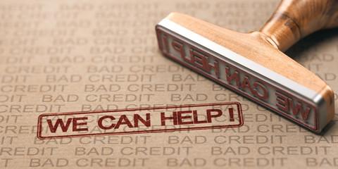 Bad Credit Fix. Debt Solutions Concept.