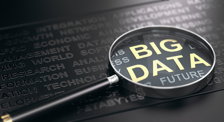 Wall Mural - Big Data Definition Concept.
