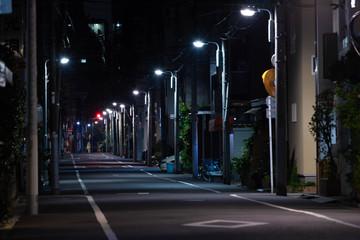 Foto op Aluminium Nacht snelweg 夜の住宅街