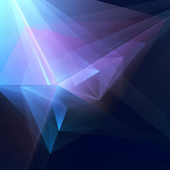 Abstract Geometric Blue - Purple Background