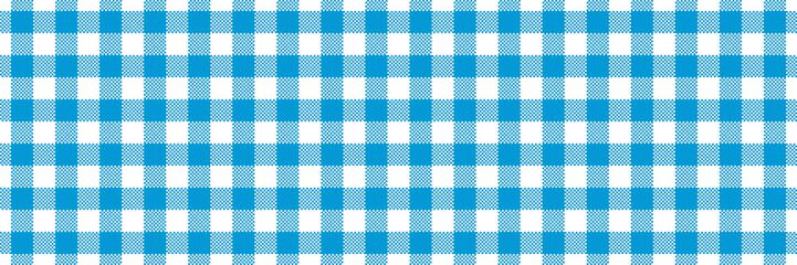 wide blue buffalo check lumberjack seamless vector pattern