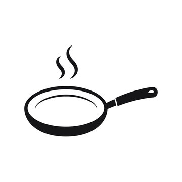 Frying pan vector icon isolated