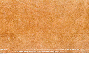 Piece of brown leather