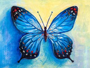 Obraz abstract painting butterfly - fototapety do salonu