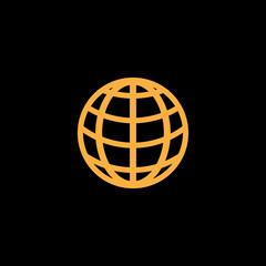 Globe earth logo design vector template