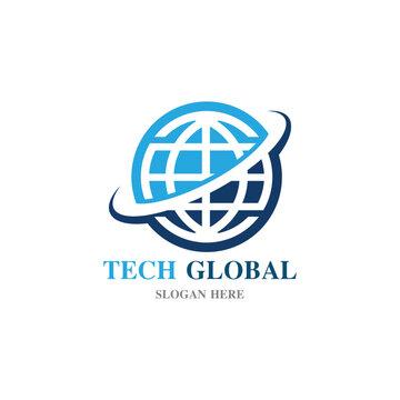 globe illustration logo and symbol vector icon