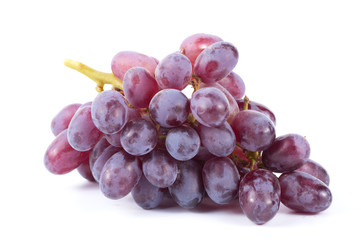 Ripe red grape isolated on white background Fototapete