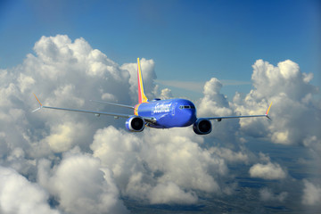 Southwest Airlines Boeing 737_800 MAX in flight