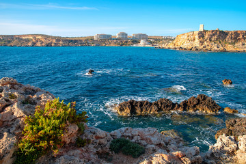 Fototapete - Maltese seascape on sunny summer day