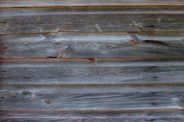 Horizontal Section of Old Red Weather Barn Wood