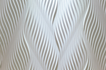 Creative wavy texture wall decoration