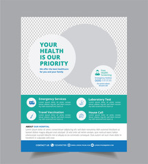 Medical Hospital Health care cover a4 template design for a report and medical brochure design, flyer, leaflets decoration for printing and presentation vector illustration