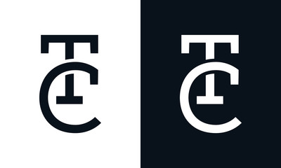 Minimalist line art letter TC logo. This logo icon incorporate with letter T and C in the creative way.