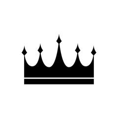 Crown icon, logo isolated on white background