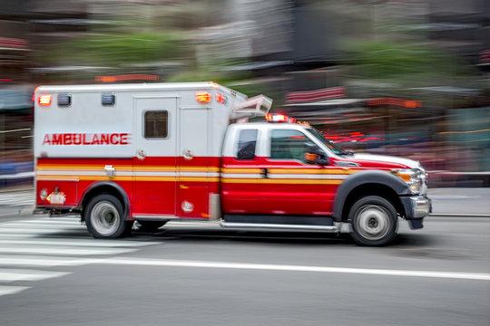 ambulance on emergency car