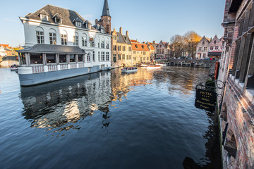 Canvas Prints Bridges Waterway in Brugge
