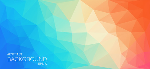 Awesome colorful background with triangles for you design