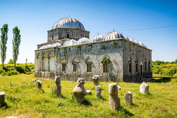 Lead Mosque also known as the Busatli Mehmet Pasha Mosque, is a historical mosque in Shkoder
