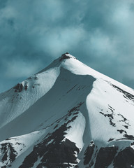 View of snowcapped mountain
