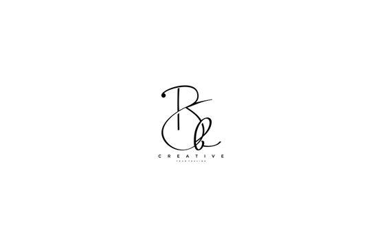 Initial Letter Bb Logo Manual Black Elegant Minimalist Signature Logo