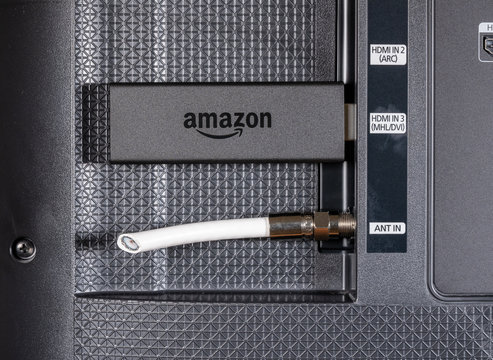 Amazon Fire TV streaming stick by cut antenna cord