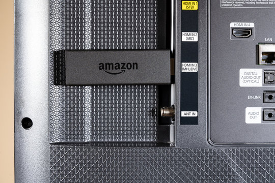Amazon Fire TV streaming stick in SmartTV