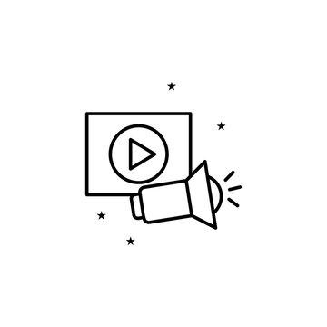 Audiovisual event management icon. Element of event management icon