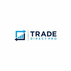 Trading logo with chart element modern design template