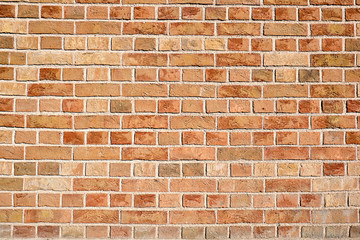Background from a evenly red brick wall