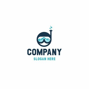Diver logo design modern template