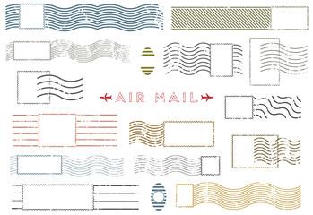 Rectangular vintage Blank stamp and element postal stamps set.illustration vector Fototapete