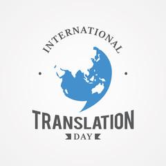 Design emblem International Translation Day vector image