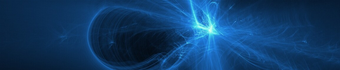 blue glow wave. lighting effect abstract background