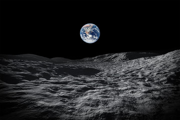 view to our planet earth from moon
