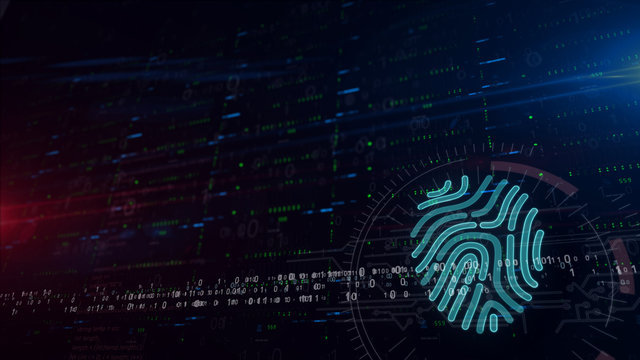 Fingerprints shape lower thirds background
