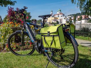 Rad am Donauradweg in Passau