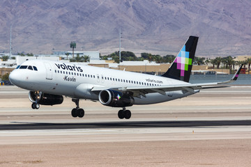 Volaris Airbus A320 airplane Las Vegas airport