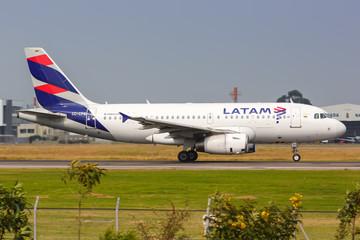 LATAM Airbus A319 airplane Bogota airport