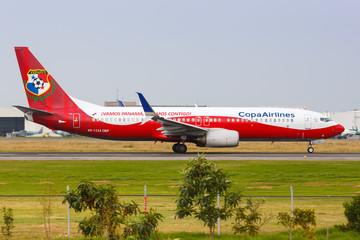 Copa Airlines Boeing 737 airplane Bogota airport special colors Fepafut