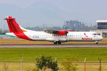 Avianca ATR 72 airplane Bogota airport