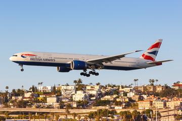 British Airways Boeing 777-300ER airplane San Diego airport