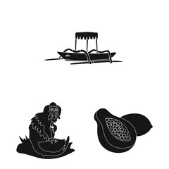 Vector design of and traditional logo. Set of and bali vector icon for stock.