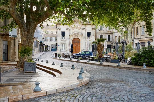 Avignon, France cobblestone street
