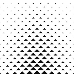 Abstract monochrome geometric triangle pattern design background
