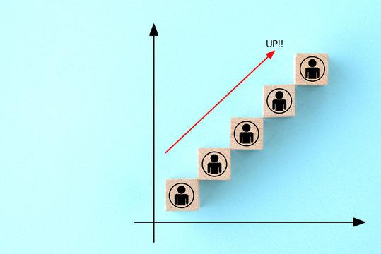 人の増加イメージ