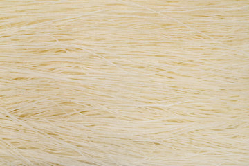 Closeup image of chinese rice glass noodles. Top view asian food background.