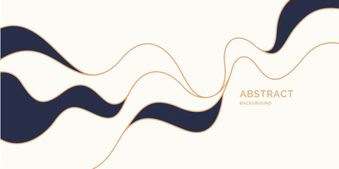 Poster with dynamic waves. Vector illustration in minimal style. Abstract background.